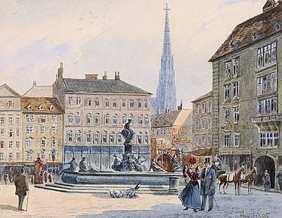 Vincenz Hawlicek(Vienna 1864-1914) The Neue Markt