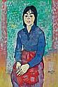 Werner Augustiner (Graz 1922-1986) Junge Frau mit, Werner Augustiner, Click for value