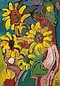 Miklós Németh * (Budapest 1934 geb.) Sonnenblumen,, Miklos Nemeth, Click for value