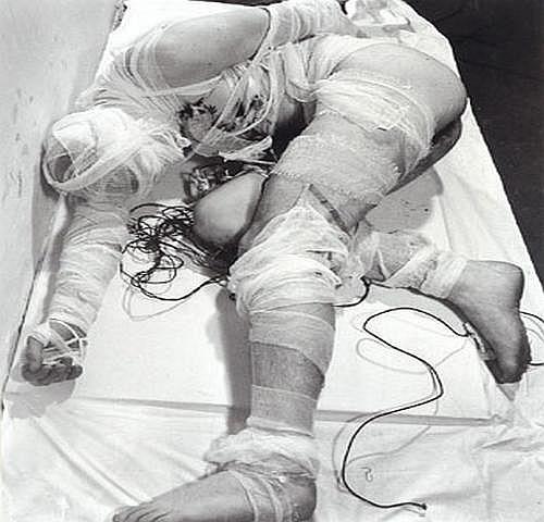 Rudolf Schwarzkogler(Vienna 1940-1969) 3rd Action,