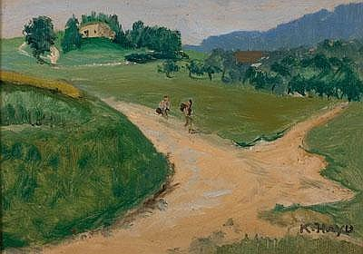 Karl Hayd (Hainburg 1882-1945 Linz) Rückseitig mit