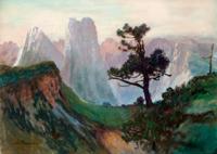 Sigismond Jean Ernest Jeanes (born Nancy 1863, active in Paris) The Dolomites at Sunrise