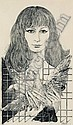 Helmut Leherb (Vienna 1933-1997) Woman with a Pigeon, Etching, signed Leherb, on the, Helmut Leherb, Click for value