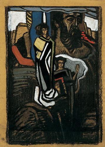 Erich Mallina (Preram 1873-1954 Vienna) Mythological Scene, according to the inscription