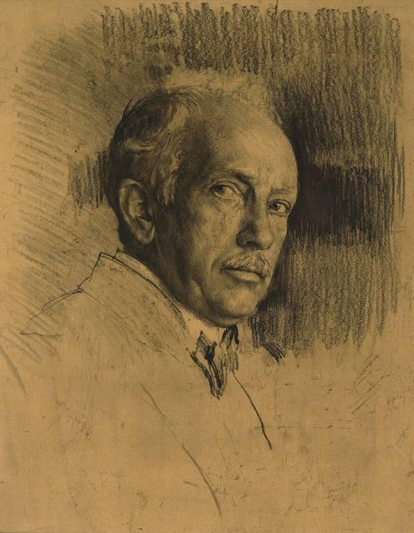Ferdinand Schmutzer (Vienna 1870-1928) 'Richard Strauss', c. 1925, Lithograph