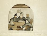 Erich Torggler (Kufstein 1899-1938 Innsbruck) 'Revellers', signed E. Torggler, Caption: