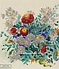 Alfred Buchta (Trieste 1880-1952 Vienna) Flowers, stamped: Nachlass Alfred Buchta (Estate, Alfred Buchta, Click for value