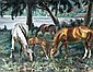 "Alfons Purtscher (Klagenfurt 1885-1962 London) ""Pferde am Seeufer"", signiert Alfons"