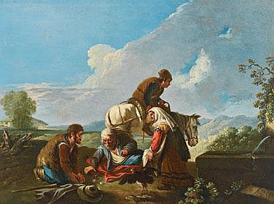 Paolo Monaldi (Roma 1720 ca.- nach 1779) Rastende