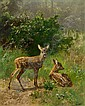Josef Schmitzberger (born Munich 1851) Fawns,, Josef Schmitzberger, Click for value