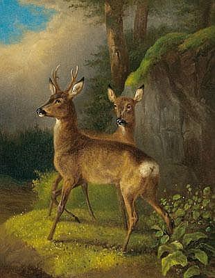 Carl Constantin Steffeck (Berlin 1818-1890) Roe
