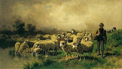 Conrad Bühlmayer (Vienna 1835-1883) Shepherd with