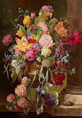 Alois Zabelitzky (Vienna 1883-1962) Large floral