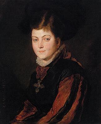 Hans Canon (Wien 1829-1885) Portrait der Gräfin