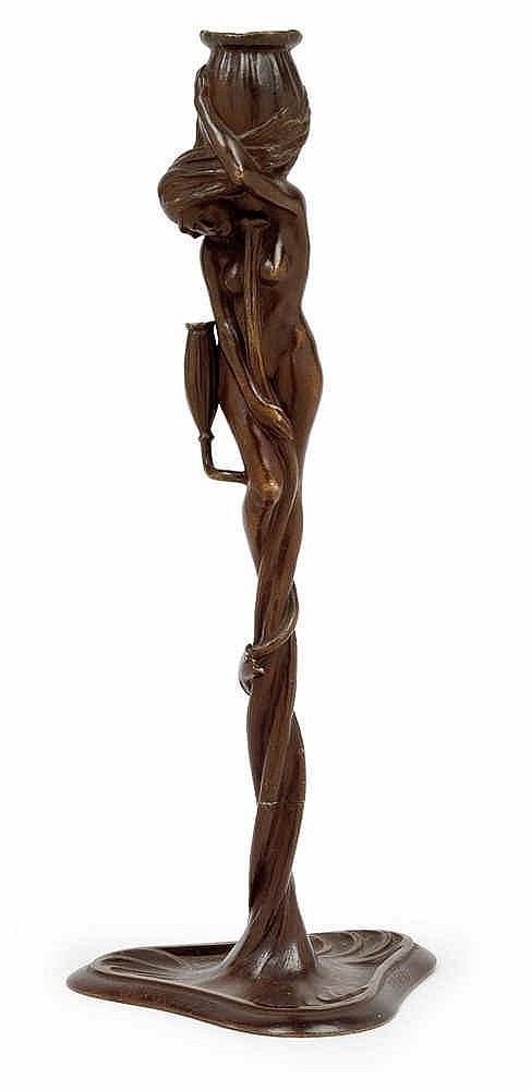 Gustav Gurschner (Mühldorf 1873-1970 Vienna), A figural candelabrum,
