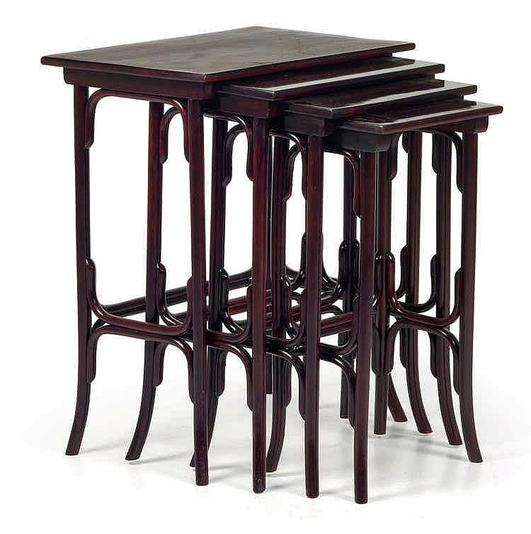 Four Thonet nesting tables no. 10,
