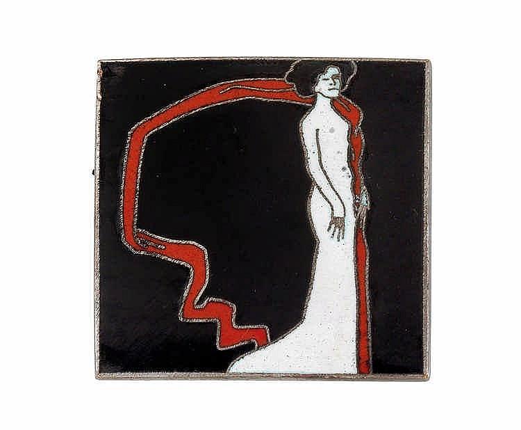 """Bertold Löffler (Nieder-Rosenthal  1874-1960 Vienna), A """"Marya Delvard"""" pin,"""