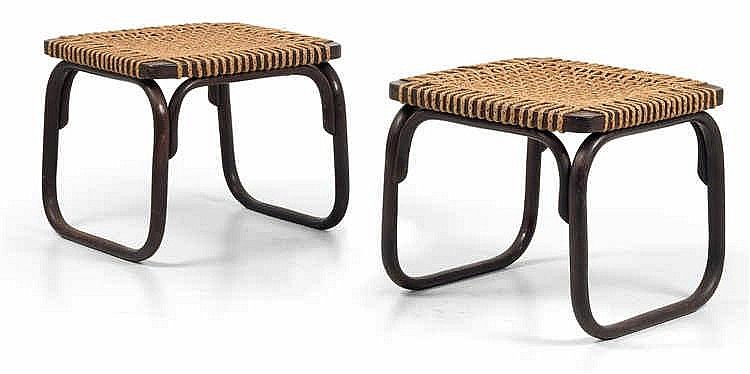 Josef Frank (Baden 1885-1967 Stockholm), A pair of stool,