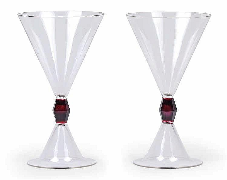"Peter Behrens (Hamburg 1868-1940 Berlin), A pair of wine glasses from the ""Aegir"" series,"