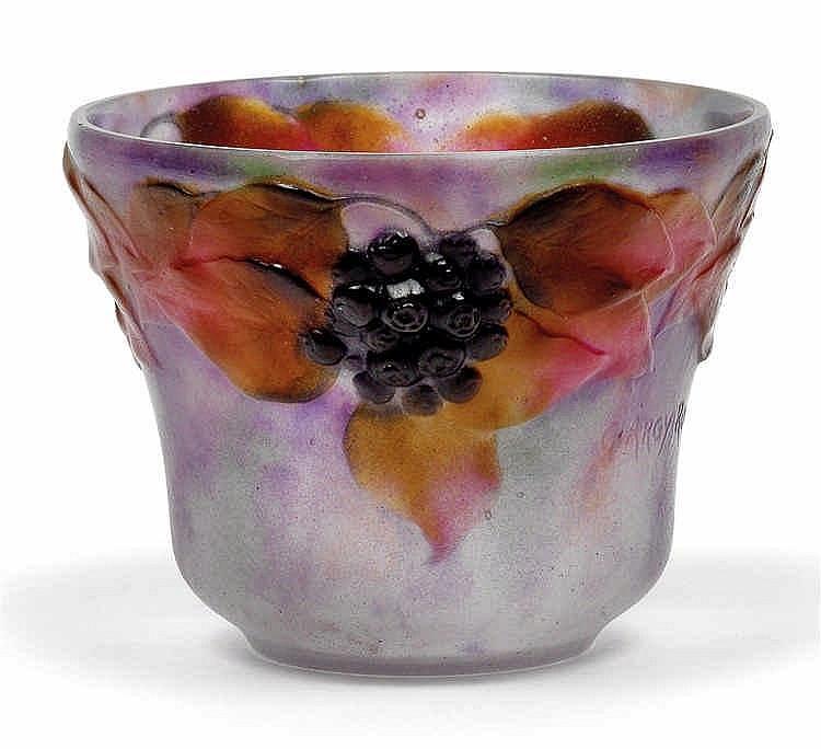 """G. Argy-Rousseau, A moulded """"Lierre"""" vase,"""