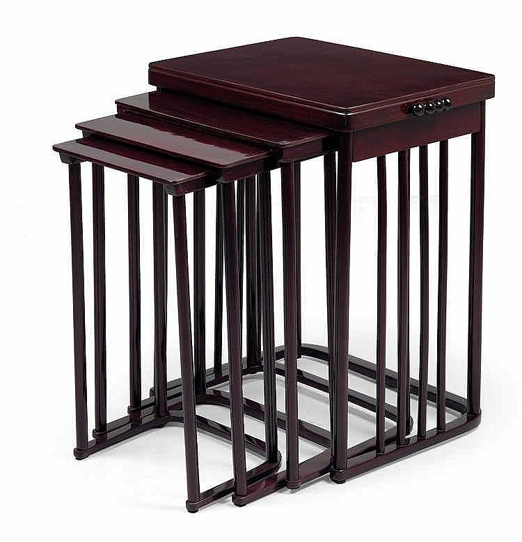 Josef Hoffmann, Four nesting tables no. 986,