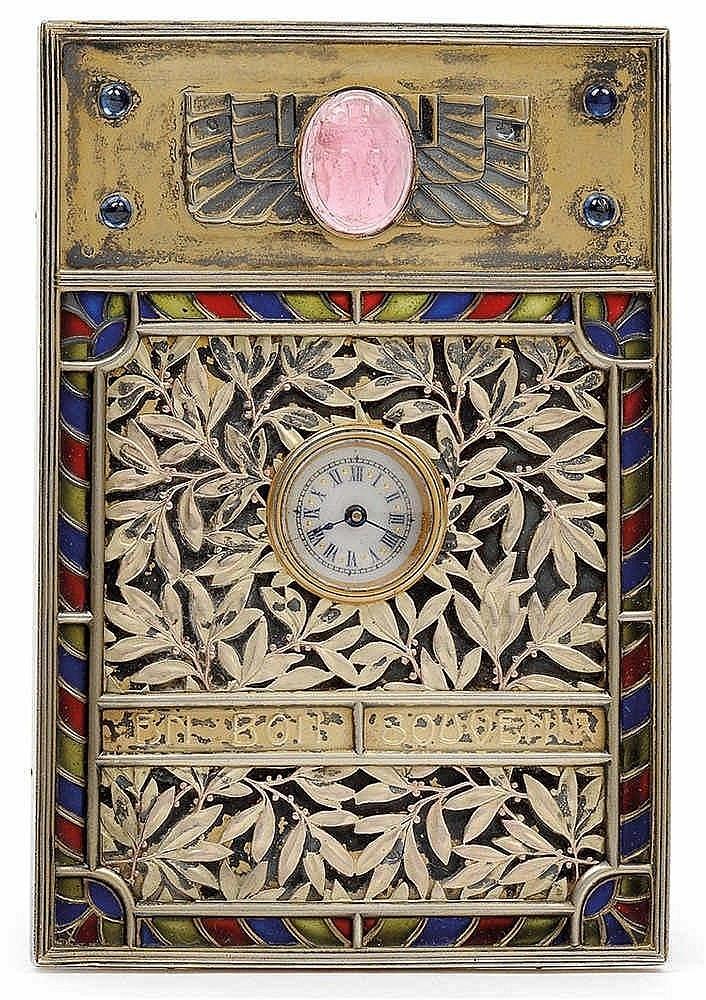A small longcase clock by Alexander Furcht/Johann Geissler,