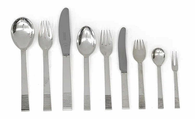 "Oscar Gundlach-Pedersen (1886-1960), A 105-piece cutlery set with ""parallel pattern"","