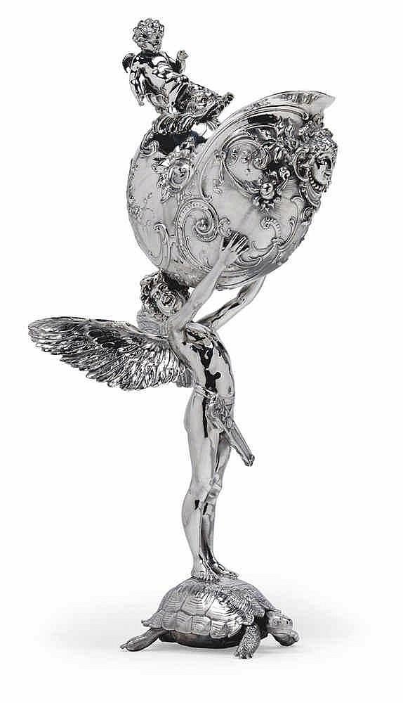 Franz von Stuck (Tettenweiß 1863-1928 Teschen), A nautilus goblet,