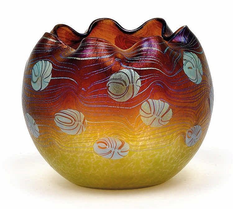 A Lötz Witwe globular vase,