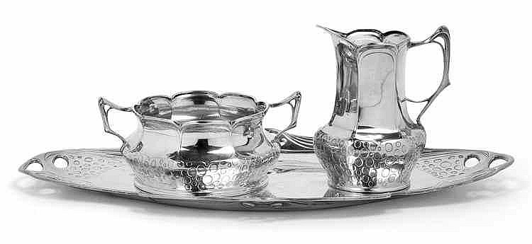 A milk jug and sugar bowl with tray by Orivit AG,