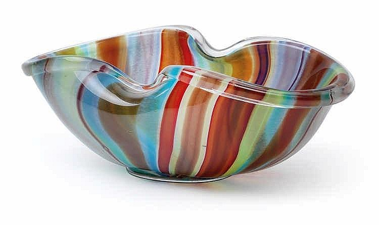 "Ercole Barovier (1889-1972), A tray ""a canne policrome"","