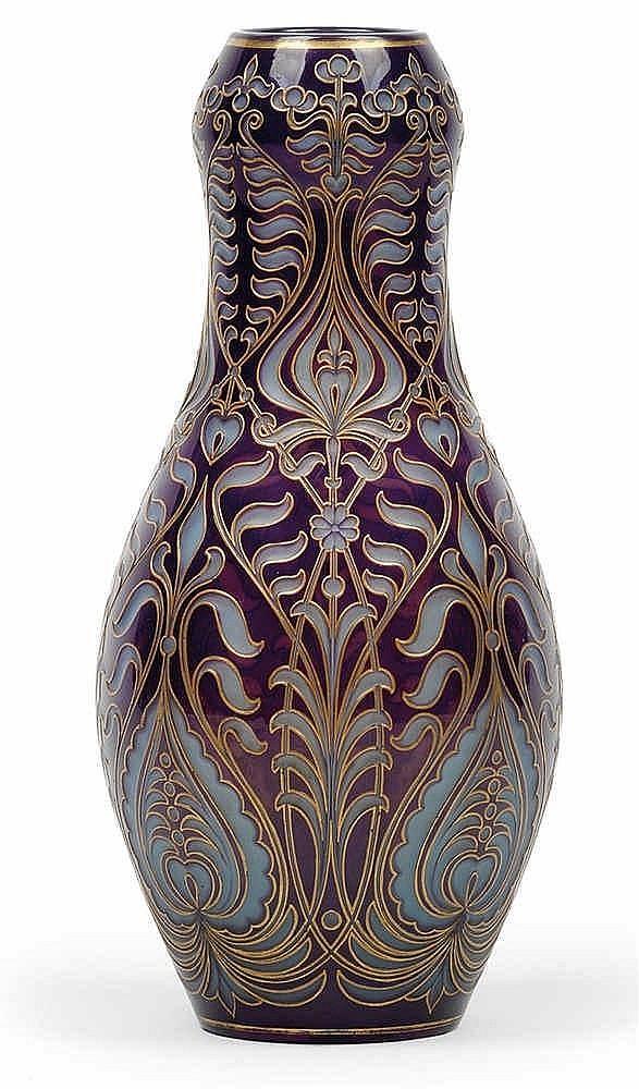 A rare vase by J. Schreiber & Neffen,