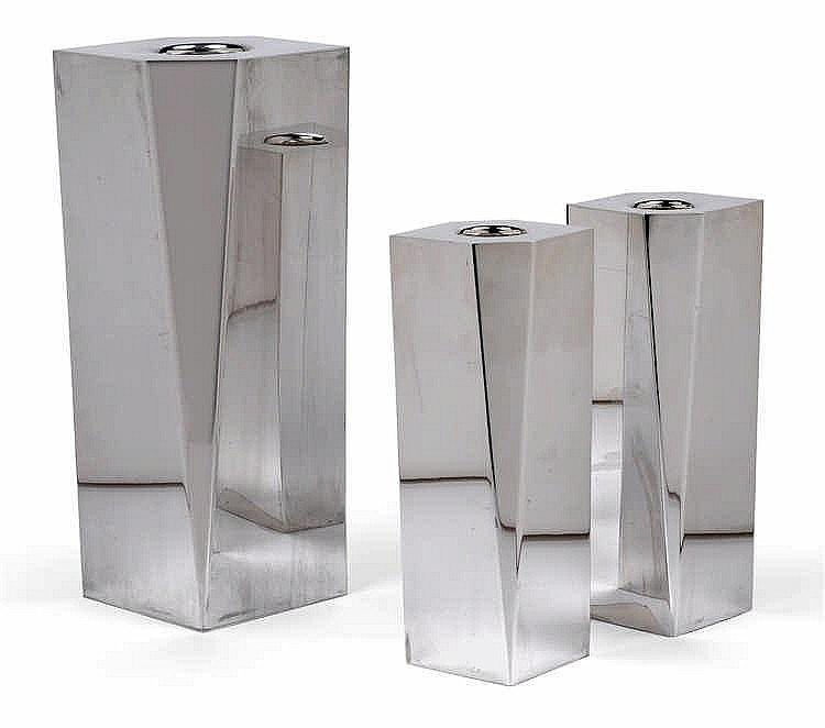 Damian Garrido*, A three-piece candleholder set,