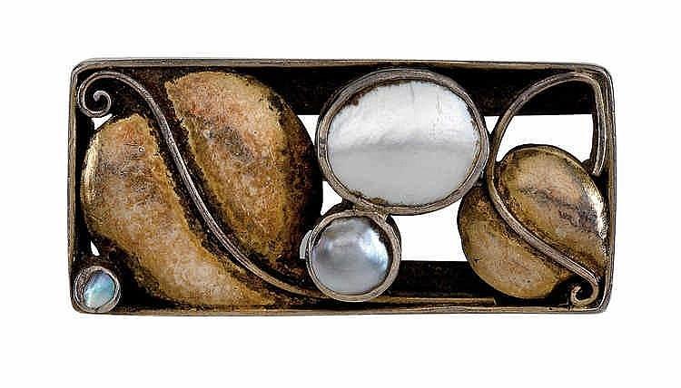 Josef Hoffmann, A brooch, originally part of choker G 956,