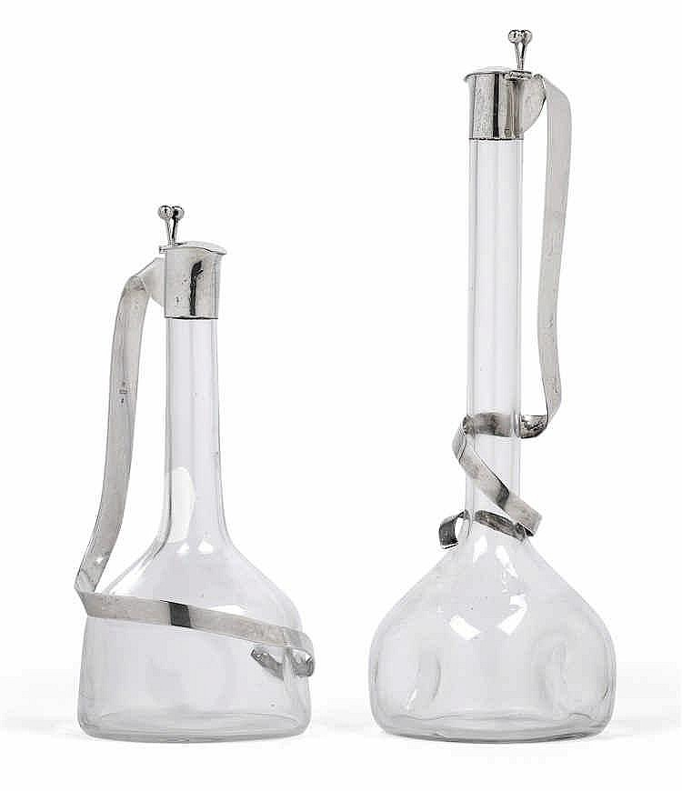 A pair of carafes by J. C. Klinkosch,