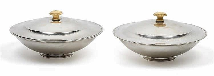 A pair of vegetable tureens by Georg Jensen,