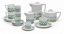 Therese Trethan/H. Wimmer, A ten-part mocha and tea service,