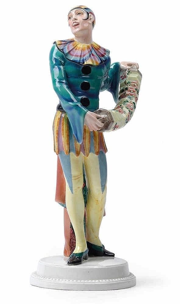 Josef Lorenzl (1892 Vienna 1950), Pierrot with accordion,