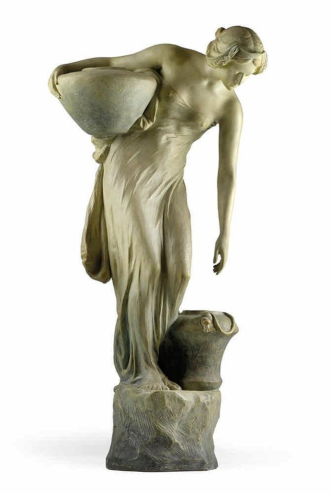 """E. Tell, A large figurine """"Returning from the well"""","""