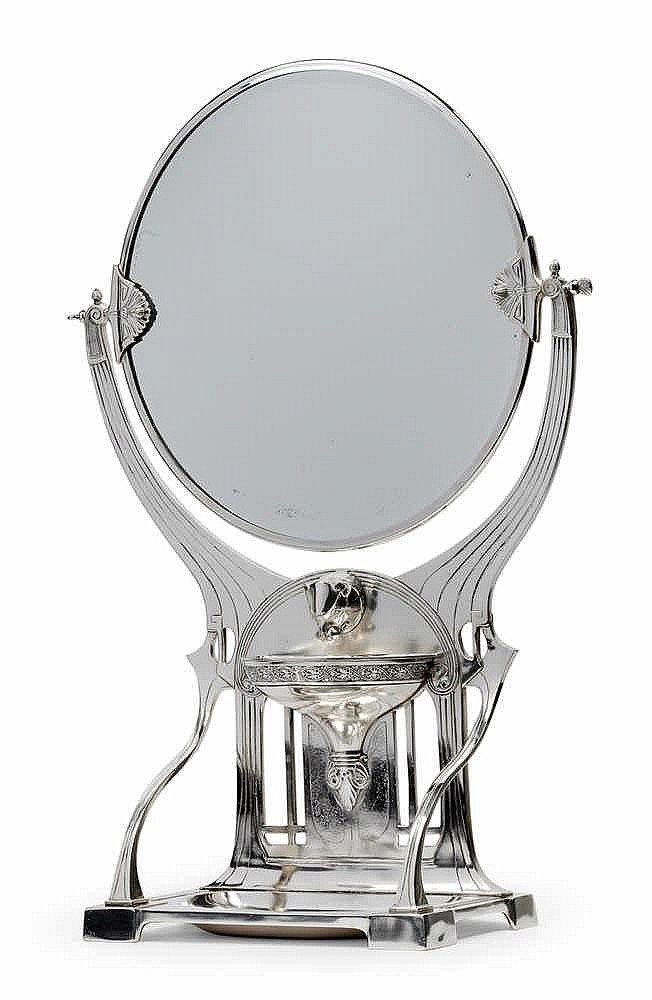 A rare WMF toilet mirror no. 83,