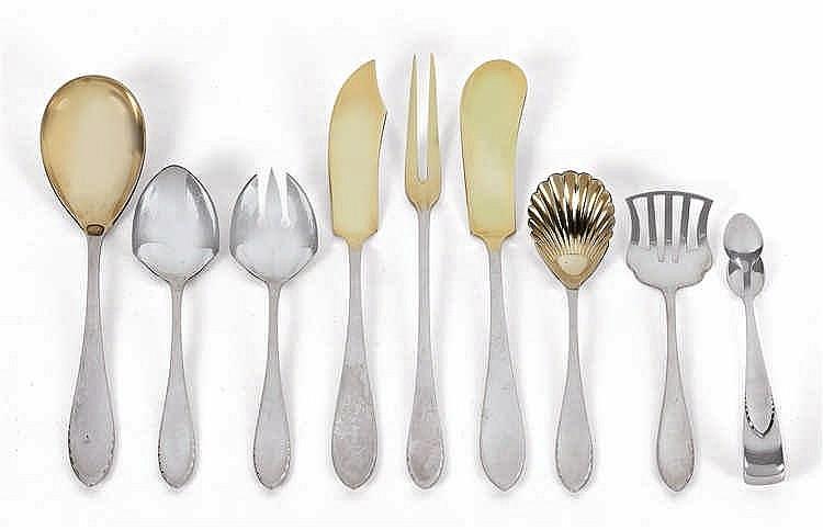 Adolf von Mayrhofer (Miesbach, 1864 – 1929, Munich), A cutlery set in 126 parts no. 3200,