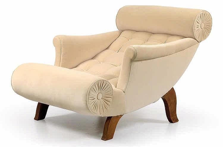 "Adolf Loos, A ""Knieschwimmer"" armchair,"
