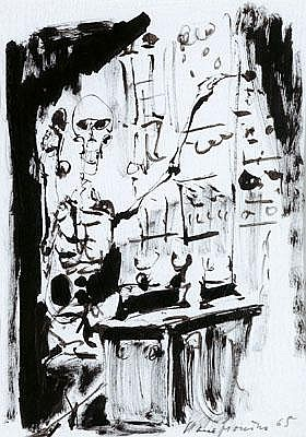 Hans Fronius(Sarajevo 1903-1988 Vienna) Death...,