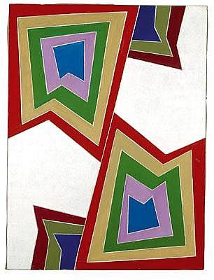 Hildegard Joos(Vienna 1909-2005) Shift, acrylic on