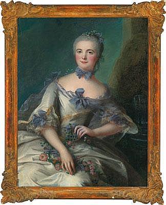Marianne Loir (1715 -1769 Frankreich) Portrait