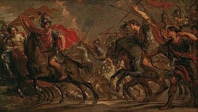 -Simon de Vos (Antwerpen 1603 -1676) Eine Schlacht