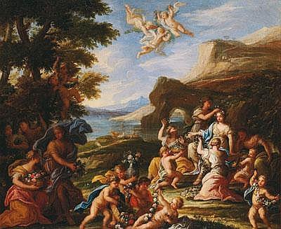 -Filippo Lauri (Roma 1623 -1694) Allegorie des