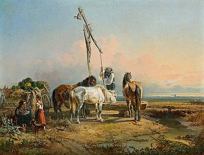 19th Century Painting by: Adolf van der Venne
