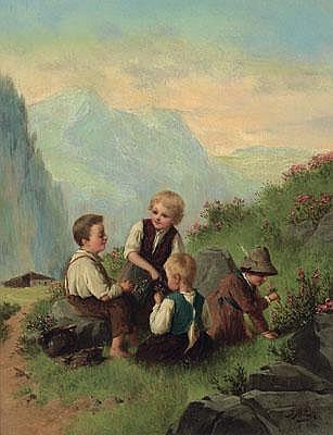 19th Century Painting by: Josef Büche
