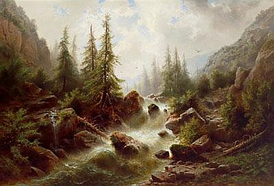 19th Century Painting by: Albert Rieger